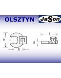 """Końcówka klucza dynamometrycznego płaska 32mm / 3/8"""" / 90°"""
