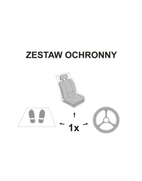 Pokrowce jednorazowe na fotel z dywanikiem i folią