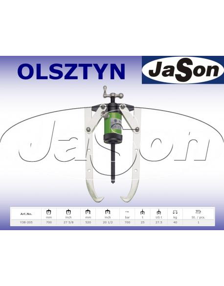 Ściągacz hydrauliczny 2-ramienny 700mm / 520mm / 700 bar / 25 T