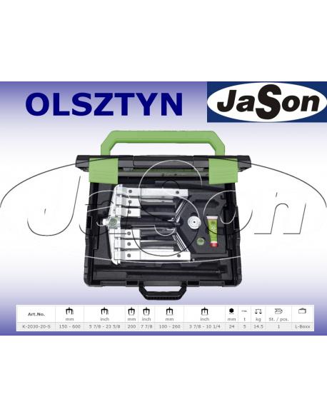 Zestaw ściągaczy 2-3-ramiennych 200mm / 150 - 600mm walizka plastikowa