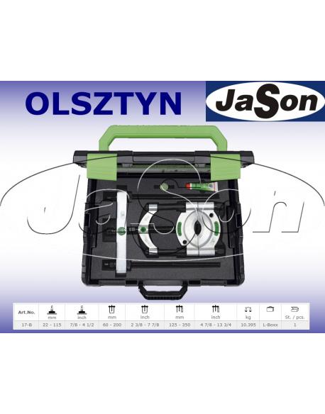 Zestaw ściągaczy odklejaczy 22-115mm rozdzielających / walizka plastikowa