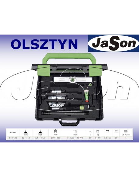 Zestaw ściągaczy odklejaczy 22-115mm rozdzielających z napędem hydraulicznym / walizka plastikowa