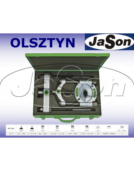 Zestaw ściągaczy odklejaczy 25-155mm rozdzielających / walizka plastikowa
