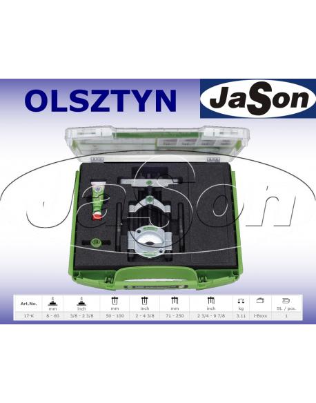 Zestaw ściągaczy odklejaczy 8-60mm rozdzielających / walizka plastikowa