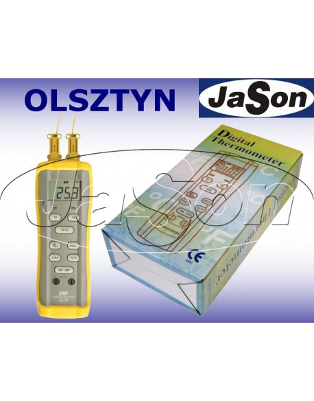 Termometr precyzyjny 2-kanałowy (2 sondy K)
