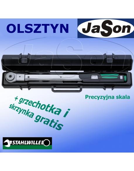 """Klucz dynamometryczny pod zabierak 40-200Nm /14x18mm/ + Grzechotka 1/2"""" / kaseta"""