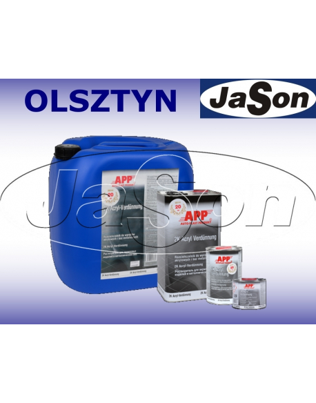 Rozpuszczalnik do lakierów bazowych i wyrobów akrylowych 30 l / tryb parowania normalny