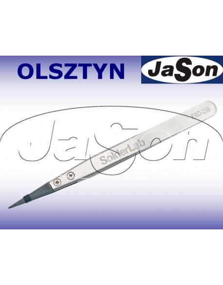 Pinceta 128mm / prosta / ostra / ESD-259 antystatyczna