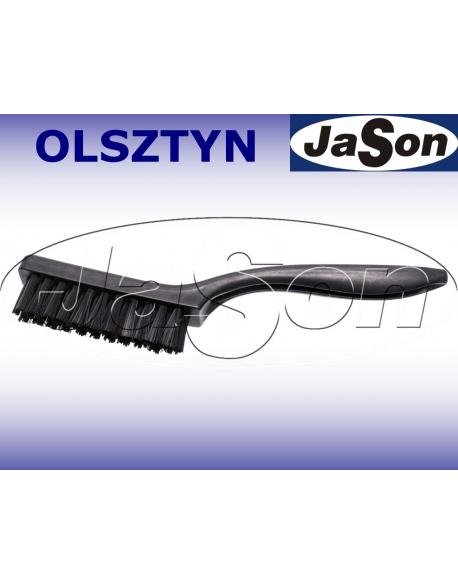 Szczotka ręczna 3-rzędowa 220mm/ 22mm/ nylon/ ESD