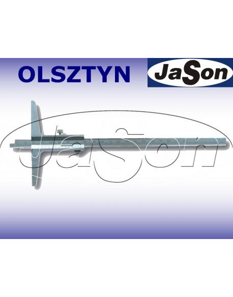 Głębokościomierz suwmiarkowy 150x100mm / 0,05 mm noniuszowy / ze śrubą MAGa / GIMEX