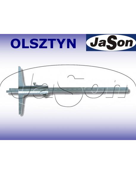 Głębokościomierz suwmiarkowy 200x100mm / 0,05 mm noniuszowy / ze śrubą MAGa / GIMEX