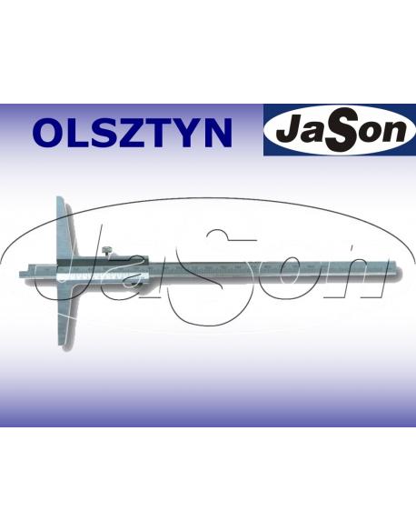 Głębokościomierz suwmiarkowy 500x150mm / 0,05 mm noniuszowy / ze śrubą MAGa / GIMEX