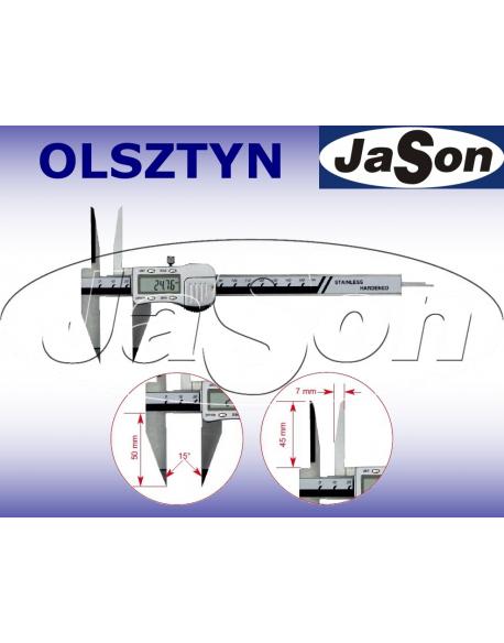 Suwmiarka elektroniczna 150mm / 0,01 mm / głębokościomierz prostokątny / ze śrubą MAGa / GIMEX