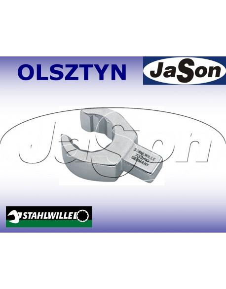Końcówka klucza dynamometrycznego oczkowa otwarta 21mm / 9x12mm/