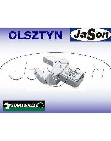 Końcówka klucza dynamometrycznego oczkowa otwarta 22mm / 9x12mm/