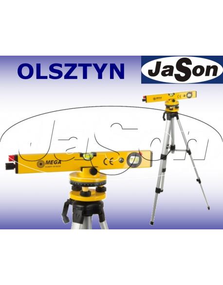 Poziomica laserowa obrotowa 400mm / laser liniowy / statyw 120cm