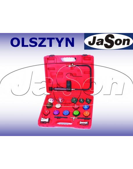 Zestaw do sprawdzania szczelności układu chłodzenia / kaseta plastikowa