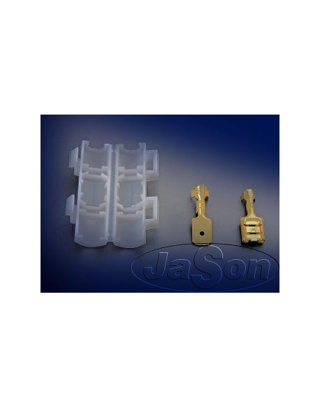 Złącze konektorowe 6,3x2.5mm /m+ż/ w osłonie [2szt.]