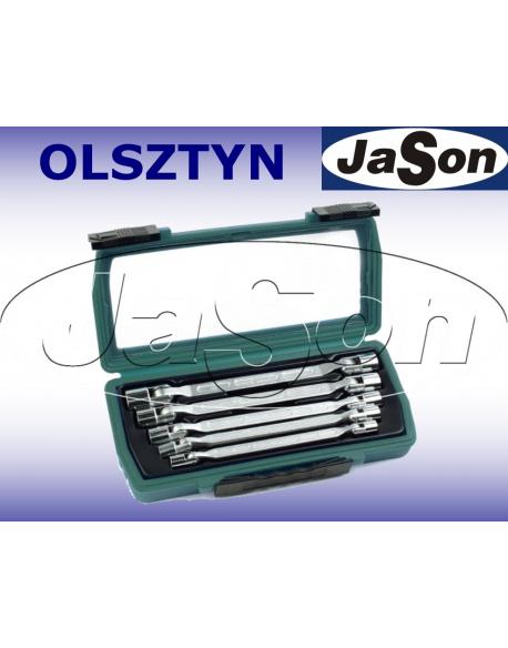 Kpl. kluczy nasadowo-przegubowych 8-19mm [5szt.] walizka z tworzywa