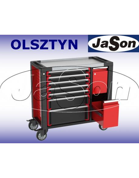 Wózek narzędziowy 7-szufladowy + 2 szuflady boczne