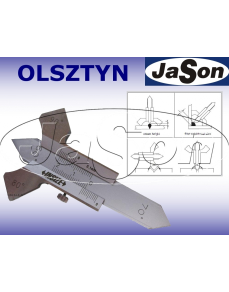 Spoinomierz do spoin pachwinowych 0-20 mm / ±1°