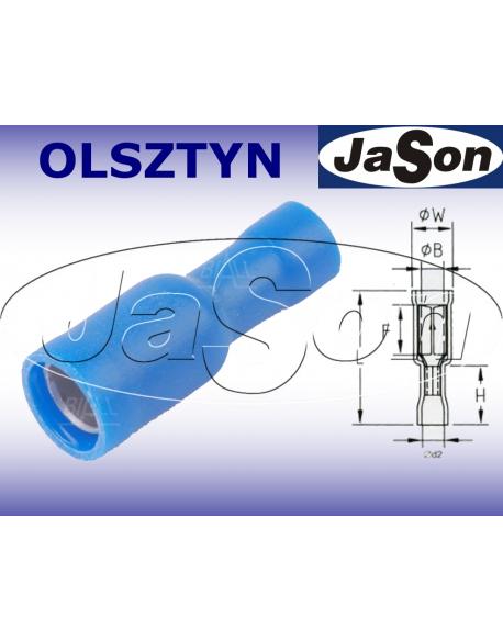 Konektor okrągły Fi 5,0mm/ 1,5-2,5mm/ izolowany /ż/ [100szt.] niebieski