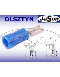 Konektor płaski 1,5-2,5mm2 izolowany /ż/ [100szt.] niebieski