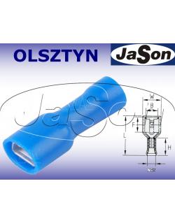 Konektor płaski 6,3x0,8mm2 izolowany /ż/ [100szt.] niebieski