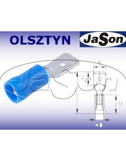 Konektor płaski 6,3x0,8mm2 izolowany /m/ [100szt.] niebieski