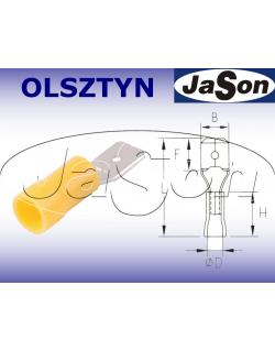 Konektor płaski 6,3x0,8mm2 izolowany /m/ [100szt.] żółty