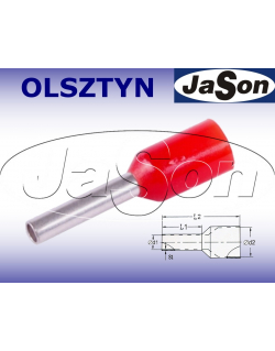 Tulejka kablowa izolowana 1,00mm/ 8mm czerwona [100szt.]