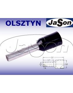 Tulejka kablowa izolowana 1,50mm/ 10mm czarna [100szt.]