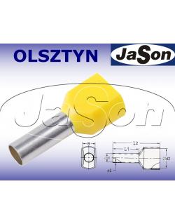 Tulejka kablowa izolowana podwójna 2 x 6,0mm/ 2 x 14mm żółta [100szt.]