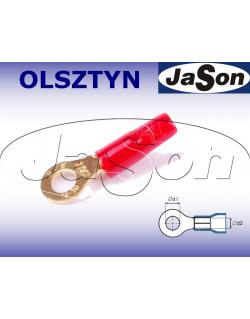 Końcówka kablowa oczkowa M 6 / 6mm/ złocona/ czerwona