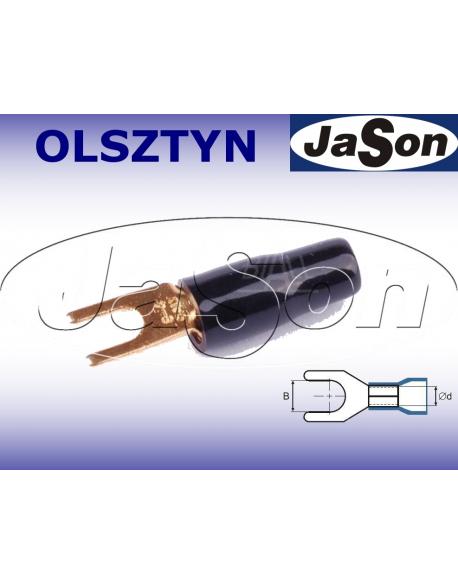 Końcówka kablowa widełkowa M 4/ 10mm/ złocona/ czarna