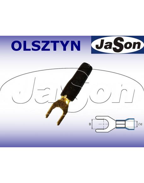 Końcówka kablowa widełkowa M 4/ 2,5mm/ złocona / czarna