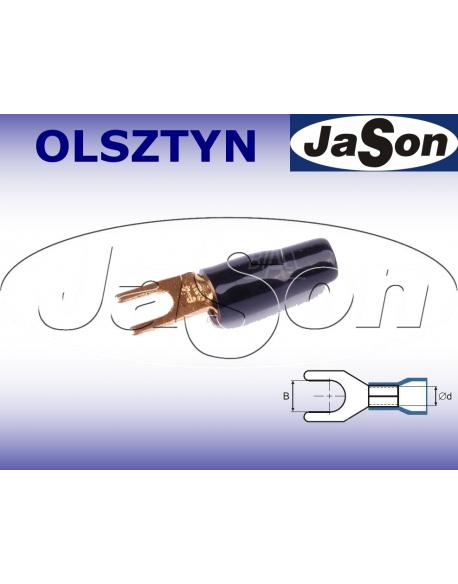 Końcówka kablowa widełkowa M 6/ 8mm/ złocona / czarna