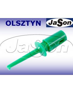 Chwytak pomiarowy haczykowy MINI H16F-GN 0,3A zielony SCI
