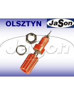Gniazdo pomiarowe laboratoryjne 4mm z zaciskiem GL09-R 10A czerwone - SCI