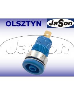 Gniazdo laboratoryjne panelowe bezpieczne 4mm SEB2610-F4,8-BU 24A CAT II 1000V - HIRSCHMANN