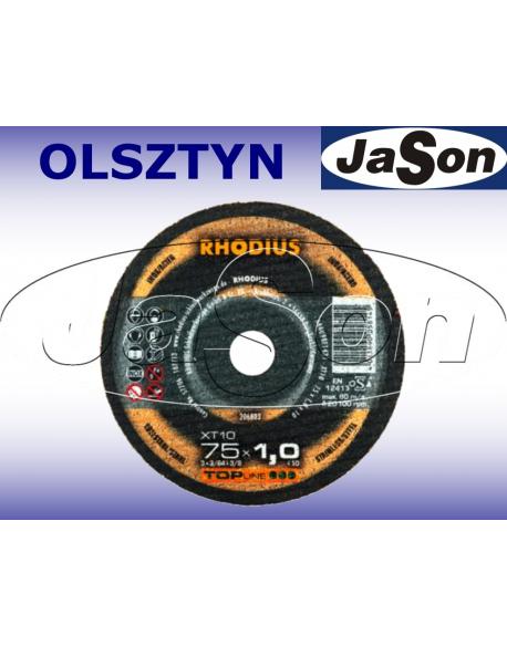 Tarcza do cięcia metalu prosta 75x1,0mm fi 10,0mm - Rhodius XT10 MINI 206803