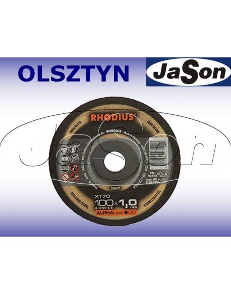 Tarcza do cięcia metalu prosta 100x1,0mm fi 16,0mm - Rhodius XT70 ALPHAline 208697