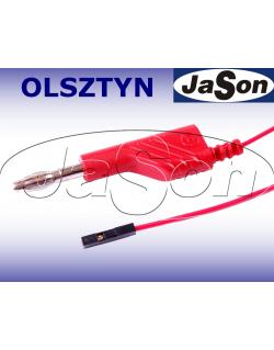 Przewód pomiarowy 3A, 4mm - 0,64mm, 1m, banan-MAL N, czerwony - HIRSCHMANN 1109546