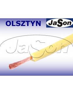 Przewód mierniczy silikonowy elastyczny żółty 20A Li2G-1,0mm2 Y - HIRSCHMANN