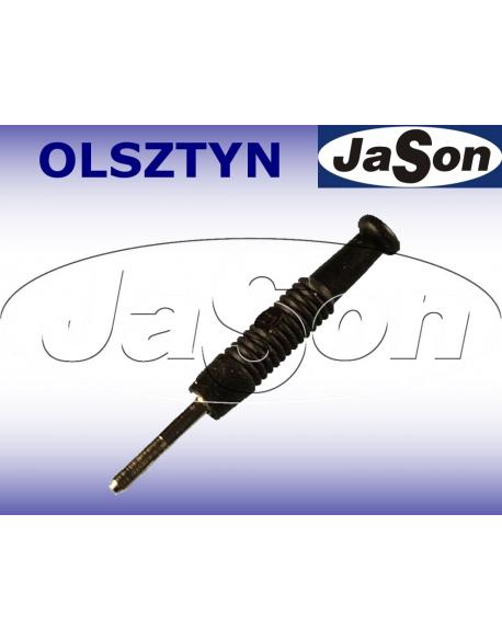 Wtyk pomiarowy kołkowy 6A, 2mm, 37mm, lamelkowy, ze sprężynką, czarny - HIRSCHMANN MST3-BK