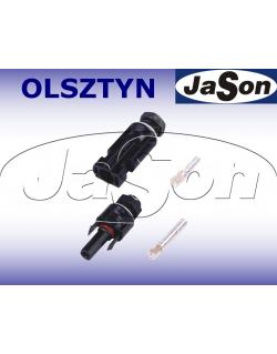 Złącze na kabel solarny 4/6mm2 (wtyk+gniazdo) MC4 IP67 - ZONHAN