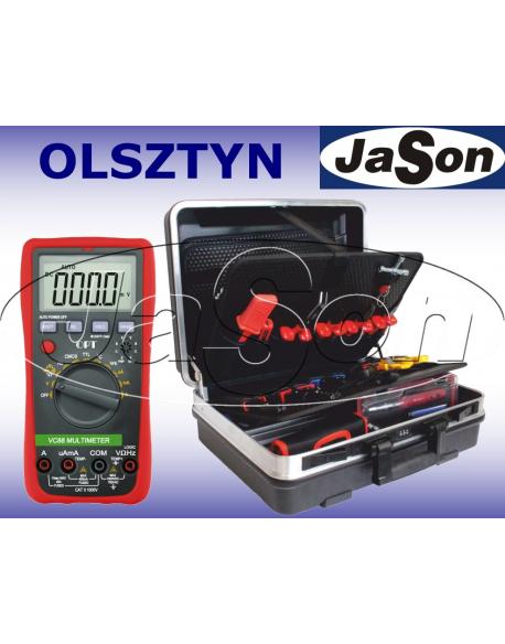 Zestaw narzędzi [46 szt.] w walizce z multimetrem VC88 - OPT ZNW-3