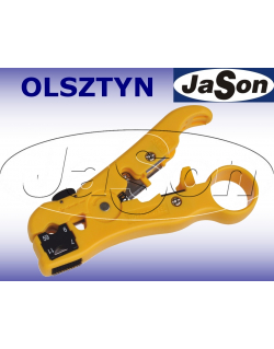 Ściągacz izolacji UTP/STP / RG59,6,11,7 / kabli telefonicznych, z obcinaczką - OPT LY352