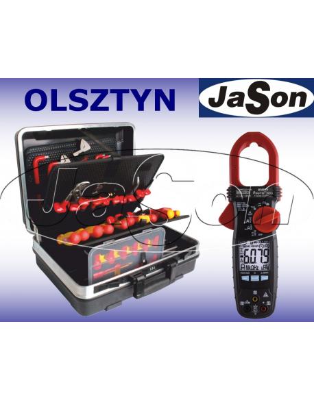 Zestaw narzędzi izolowanych 1000V [51 szt.] w walizce z miernikiem cęgowym - OPT ZNIW-4