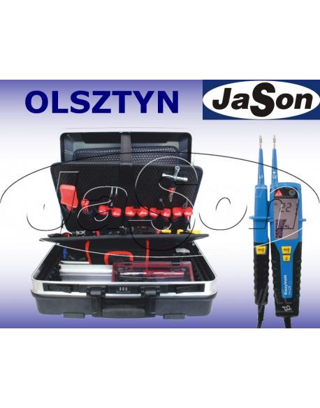 Zestaw narzędzi izolowanych, 1000V, [51 szt.], w walizce, z testerem elektryka - OPT ZNIW-3
